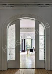 Раздвижная арочная дверь