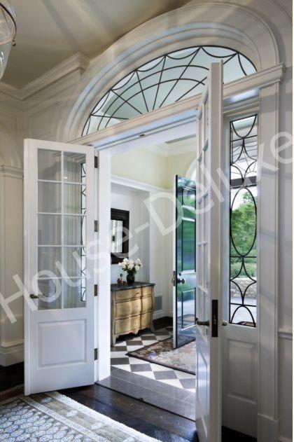 Двери с арочной фрамугой