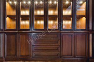 Элитные шкафы из красного дерева